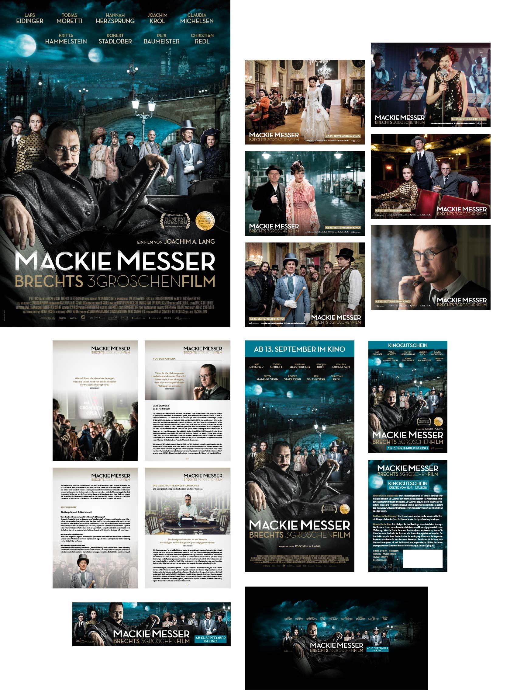 Mackie Messer, Brechts 3 Groschenfilm, Wild Bunch Germany, Filmwerbung, Kinowerbung