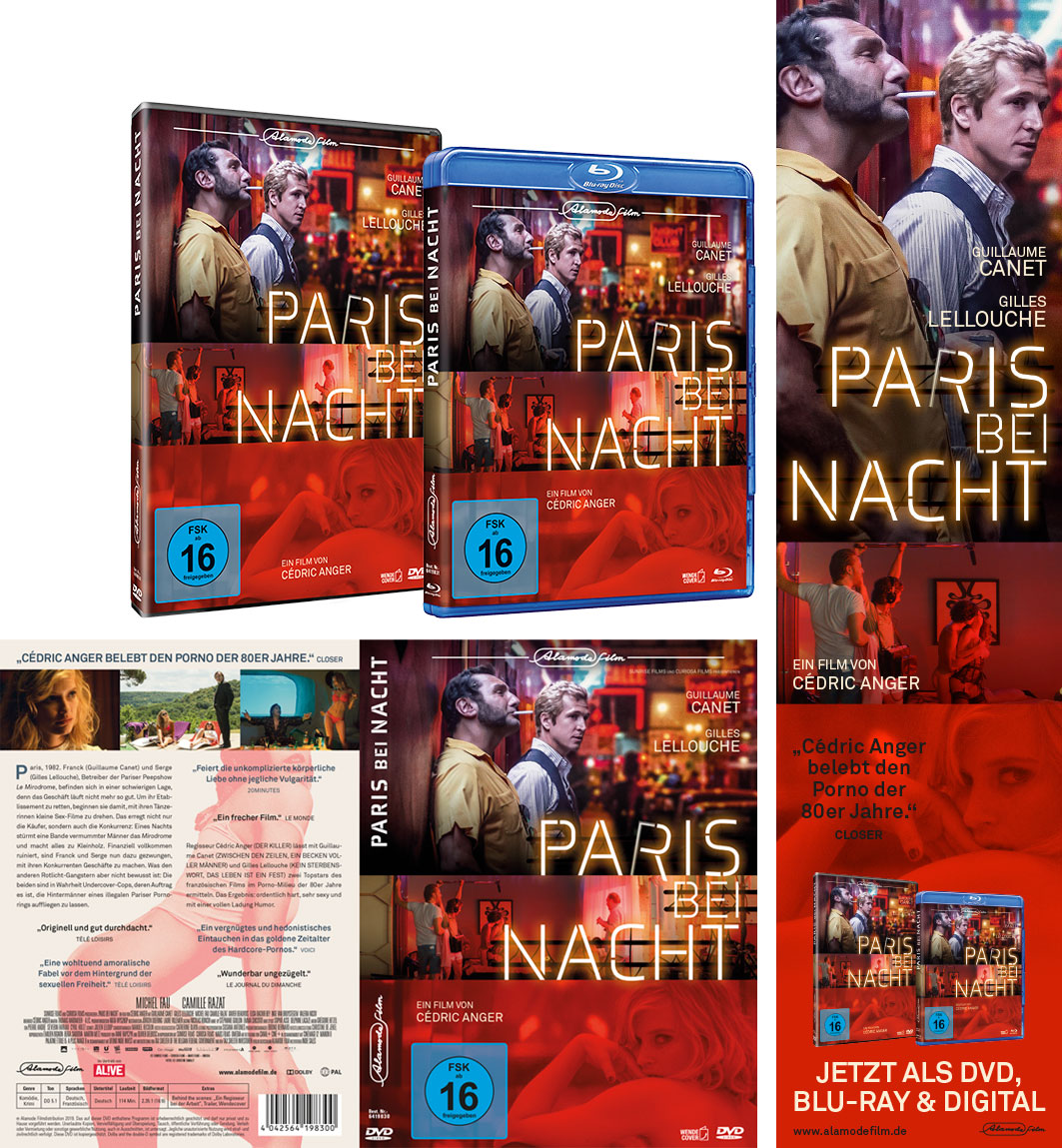 Paris bei Nacht, Alamode, Kinowerbung Grafikdesign